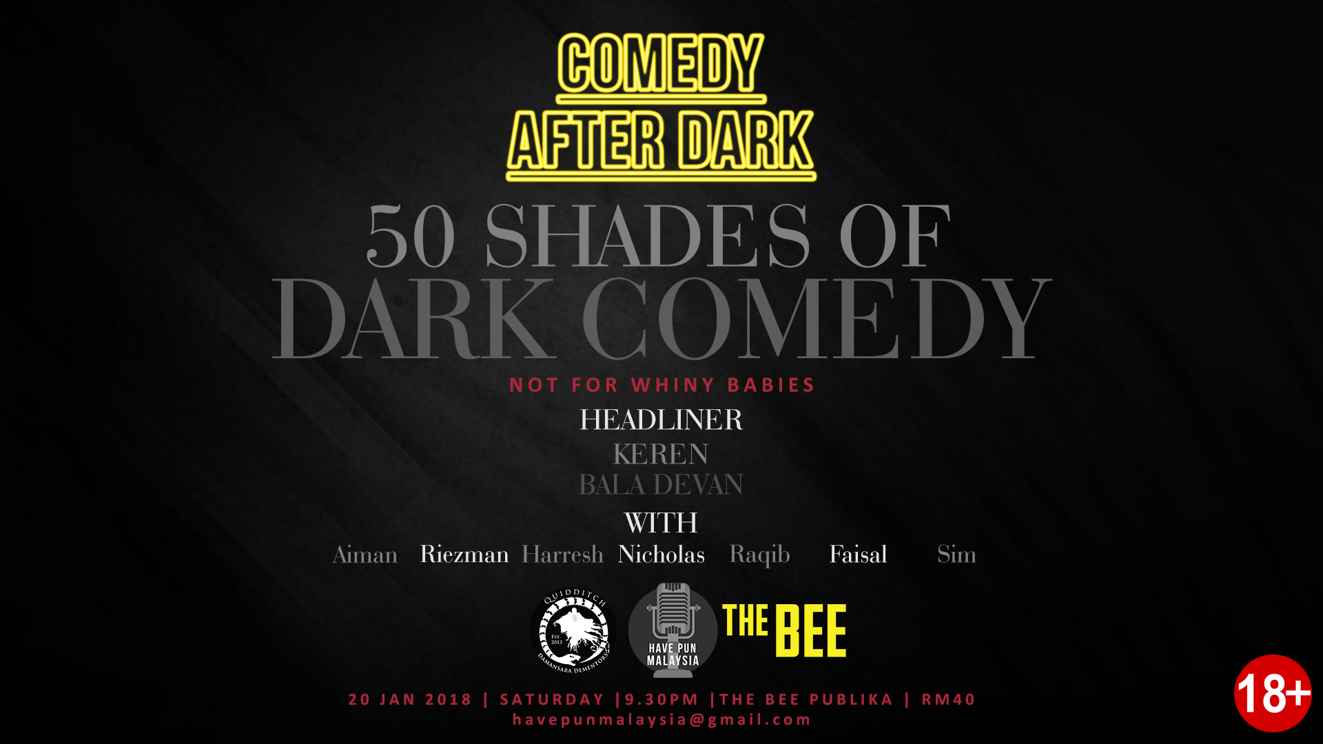 JANUARY 20 : Comedy After Dark at Publika
