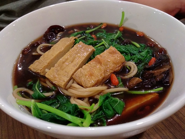 Organic balck bean noodle soup: Aenon The Health Kitchen, Cheras | Kuala Lumpur Best Restaurant Review 2018